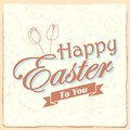 Happy easter typography background illustration of Royalty Free Stock Photography