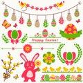 Happy Easter! Vector design elements.