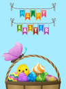 Happy Easter Vector Flyer or Concept Royalty Free Stock Photo