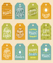 Happy Easter vector hand lettering greeting cards set. Religious holiday vector illustrations for labels, stickers etc.
