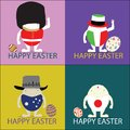 Happy easter vector illustrator illustration eggs concept Royalty Free Stock Photo
