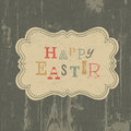 Happy easter vintage greeting card vector eps Royalty Free Stock Image