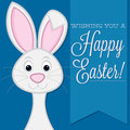 Happy easter wishing you a retro style bunny card in vector format Royalty Free Stock Photo