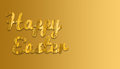 Happy Easter with yellow fabric and gradient background colour Royalty Free Stock Photo