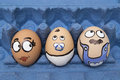 Happy egg face family Royalty Free Stock Photo