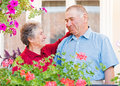 image photo : Happy elderly couple