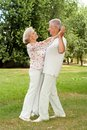 Happy elderly couple enjoying each other s company Royalty Free Stock Photo