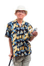 Happy elderly man with money Royalty Free Stock Photo