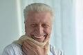 Happy elderly man Royalty Free Stock Photo