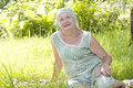 image photo : Happy elderly woman