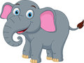 Happy elephant cartoon Royalty Free Stock Photo