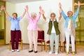 Happy enthusiastic group of senior women Royalty Free Stock Photo