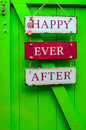 Happy ever after home decoration Stock Photos