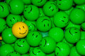Happy Face Golfballs Royalty Free Stock Photo