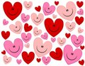 Happy Face Hearts Valentine's Background Royalty Free Stock Image