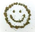 Happy Face Made of Marijuana