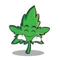 Happy face marijuana character cartoon
