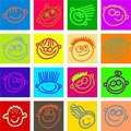 Happy face tiles Royalty Free Stock Photography