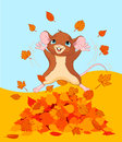 Happy fall mouse Royalty Free Stock Photography