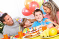 Happy family and birthday Royalty Free Stock Photo
