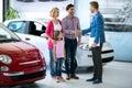 Happy  family buy  new car Royalty Free Stock Photo
