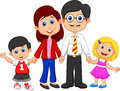 Happy family cartoon illustration of Royalty Free Stock Photography