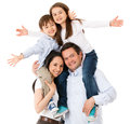 Happy family celebrating Stock Photos