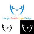 Happy family concept logo