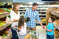 Happy family doing shopping Royalty Free Stock Photo