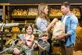 Happy family doing shopping Royalty Free Stock Photo