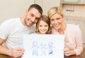 Happy family drawing at home Royalty Free Stock Photo