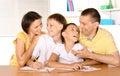 Happy family drawing Royalty Free Stock Photo