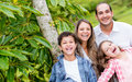 Happy family enjoying outdoors Royalty Free Stock Photo