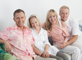 Happy family express love and unity at home Royalty Free Stock Images
