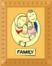 Happy family in frame Royalty Free Stock Photos