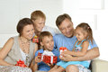 Happy Family with gifts Royalty Free Stock Photo