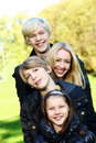 Happy family have fun in park Royalty Free Stock Photos
