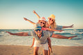 Happy family having fun on summer vacation Royalty Free Stock Photo