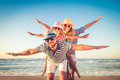 Happy family having fun on summer vacation Royalty Free Stock Photo
