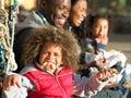 Happy family having picnic Royalty Free Stock Image