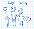 Happy family holding hands and smiling Royalty Free Stock Image