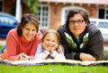 Happy family at home Royalty Free Stock Photos