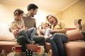 Happy family at home. Royalty Free Stock Photo