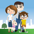 Happy family illustration Stock Image
