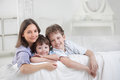 Happy family indoors Royalty Free Stock Photography