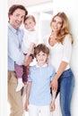 Happy family inside house Royalty Free Stock Photo