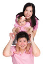 Happy family line up Royalty Free Stock Photo