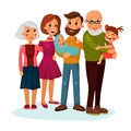 Happy family logo with father and mother