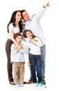 Happy family looking away Royalty Free Stock Photo