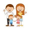 Happy family members icon Royalty Free Stock Photo